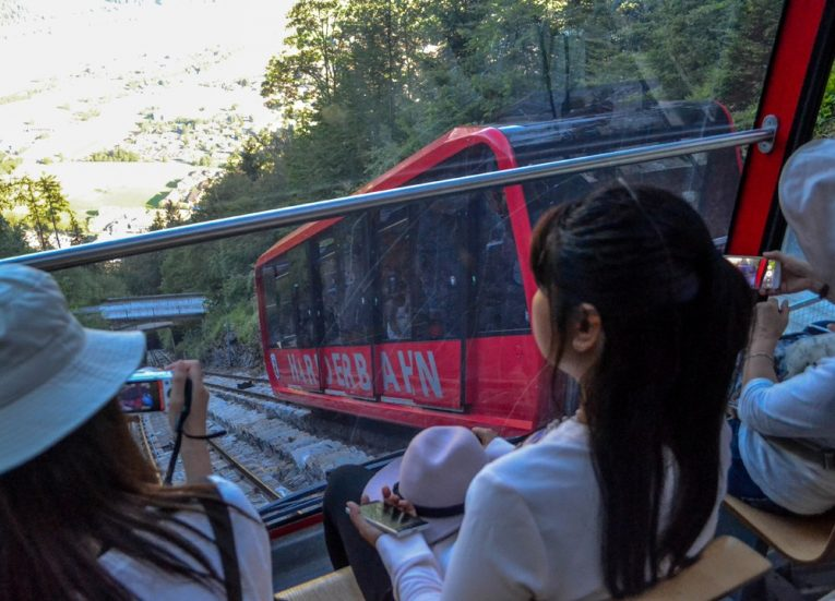 Funicular Train to Harder Kulm on Jungfrau Railway Travel Pass in Interlaken