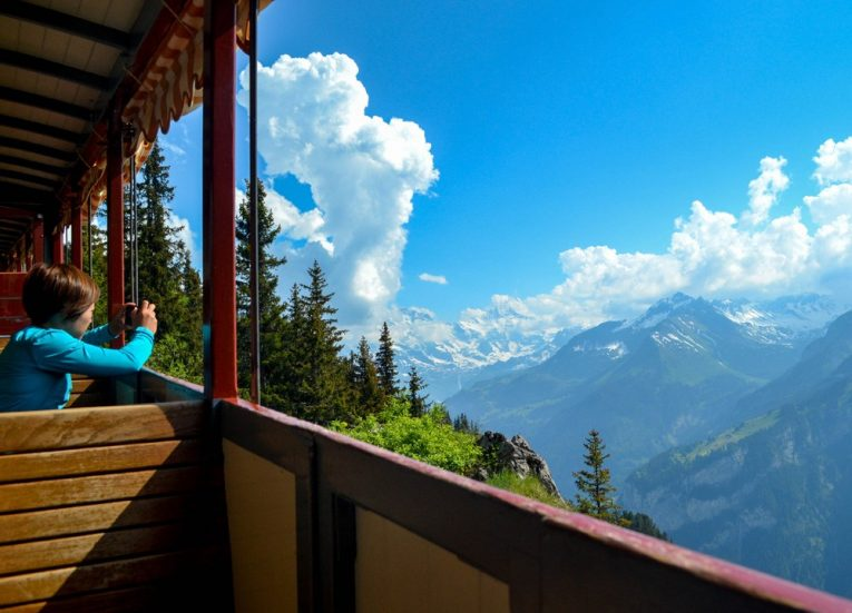 Railway Train to Schynige Platte on 3-Day Jungfrau Travel Pass in Switzerland