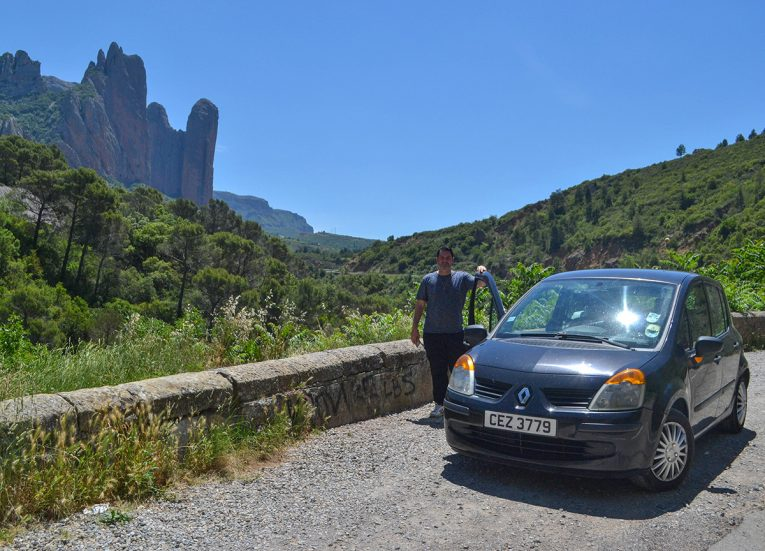 Views over Mallos De Riglos, Spanish Pyrenees. Road Trip