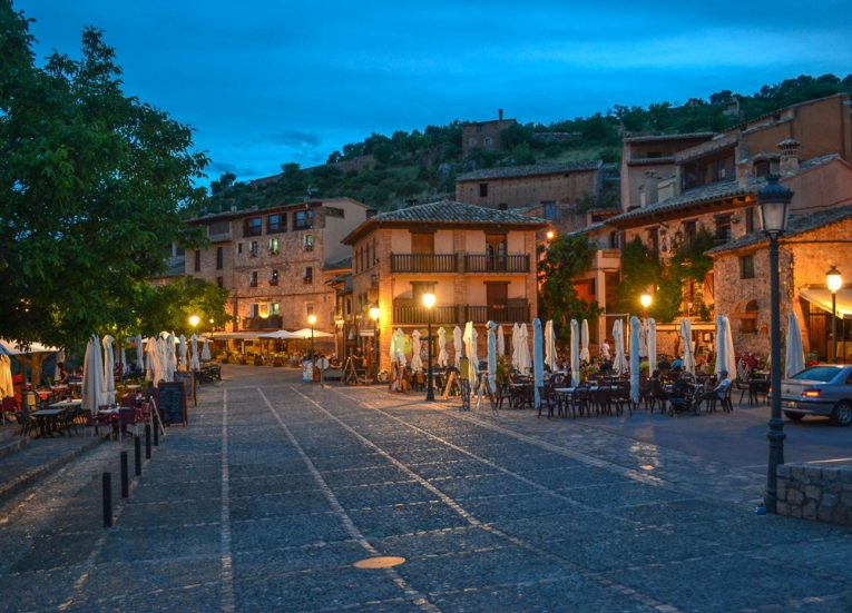 Town Centre Square of-Alquezar-Huesca-Northern-Spain