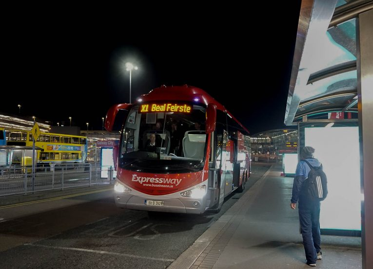 Bus Eireann X1 Express. Travel from Dublin Airport to Belfast by Bus.