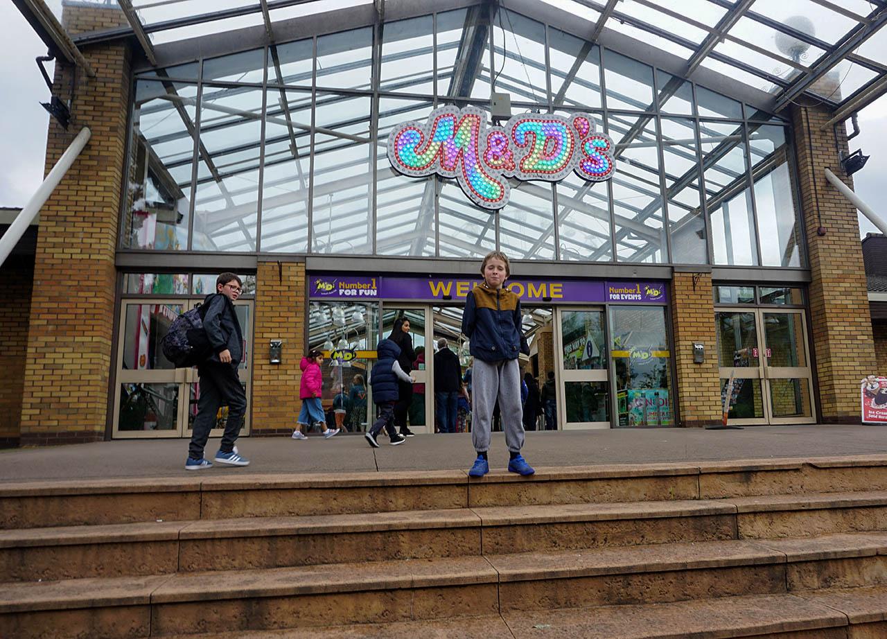 Front Entrance to M&D Theme Park Stena Line Day Tour to Scotland