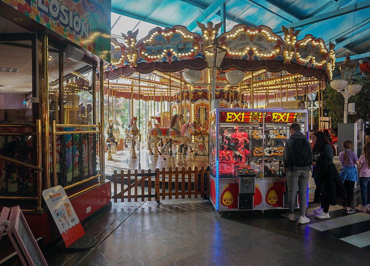 Inside Carrousel at M&D Theme Park Stena Line Day Tour to Scotland