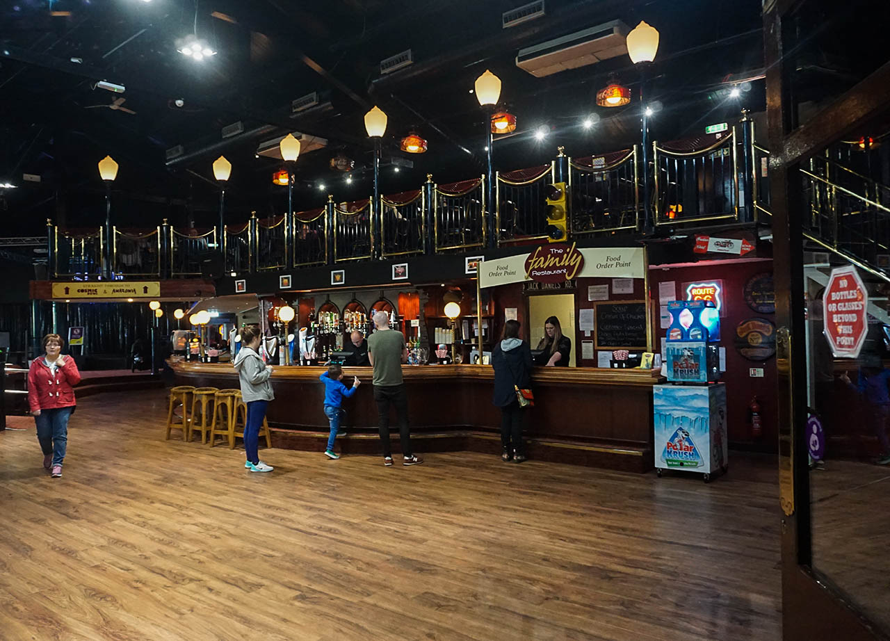 Bars and Restaurants at M&D Theme Park Scotland on Stena Line Day Tour