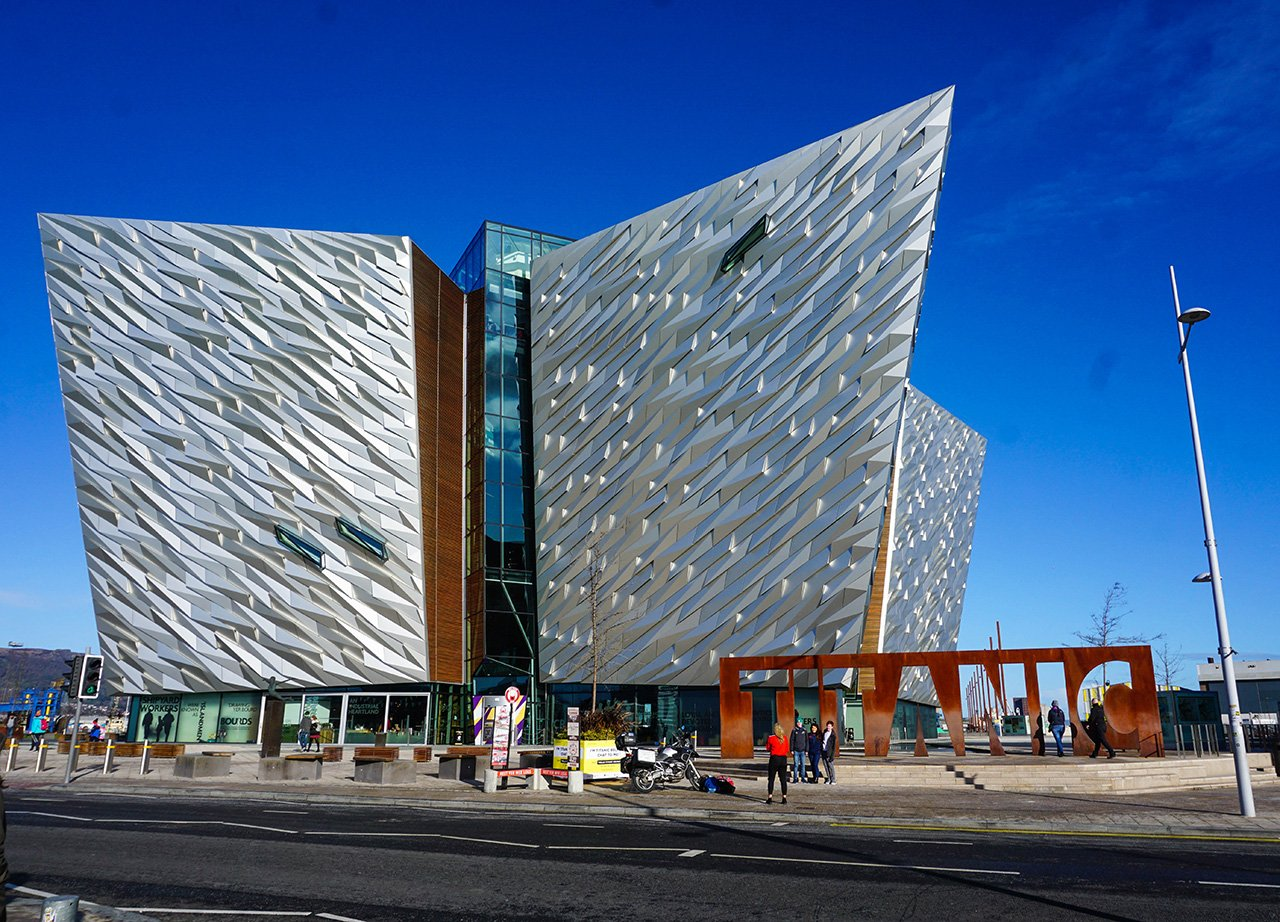 Belfast Titanic Building and Museum in Titanic Quarter