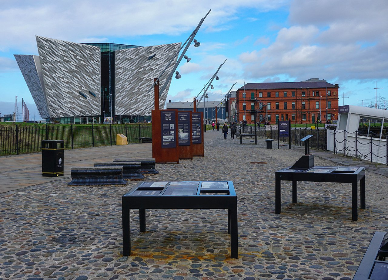 Free Tourist Attracions at Belfast Titanic Quarter in Northern Ireland