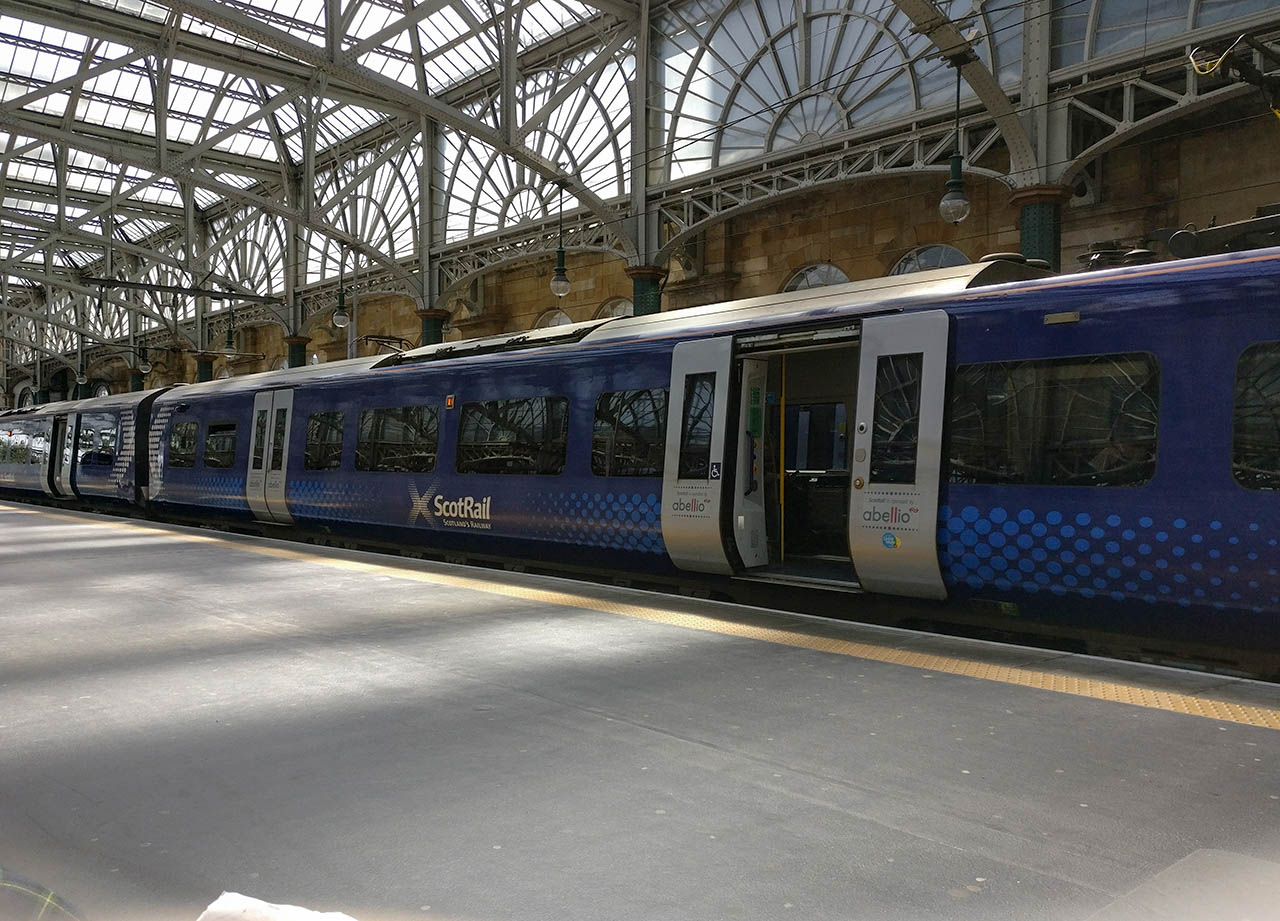 Glasgow Railway Station to Ayr by Scotrail Scotlands Railway