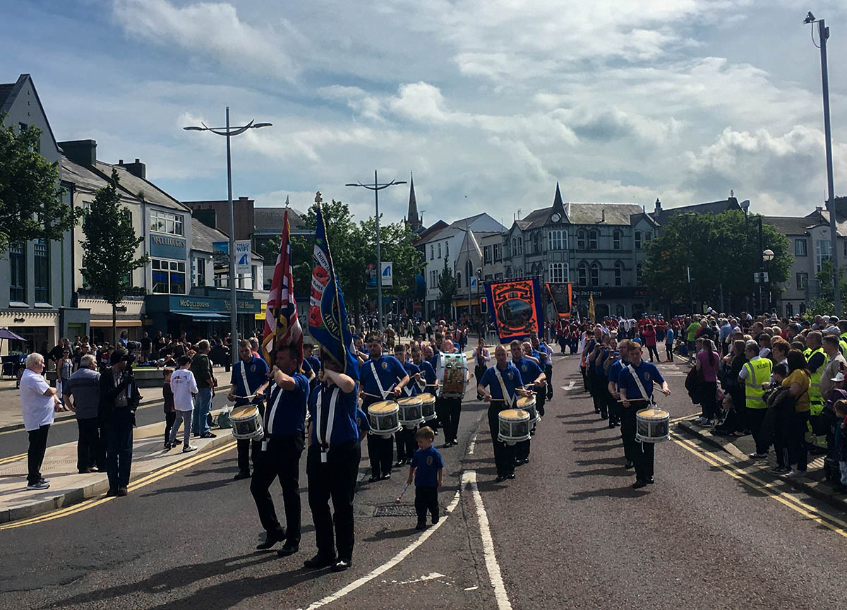 Loyalist Bands and Parades in Bangor Northern Ireland