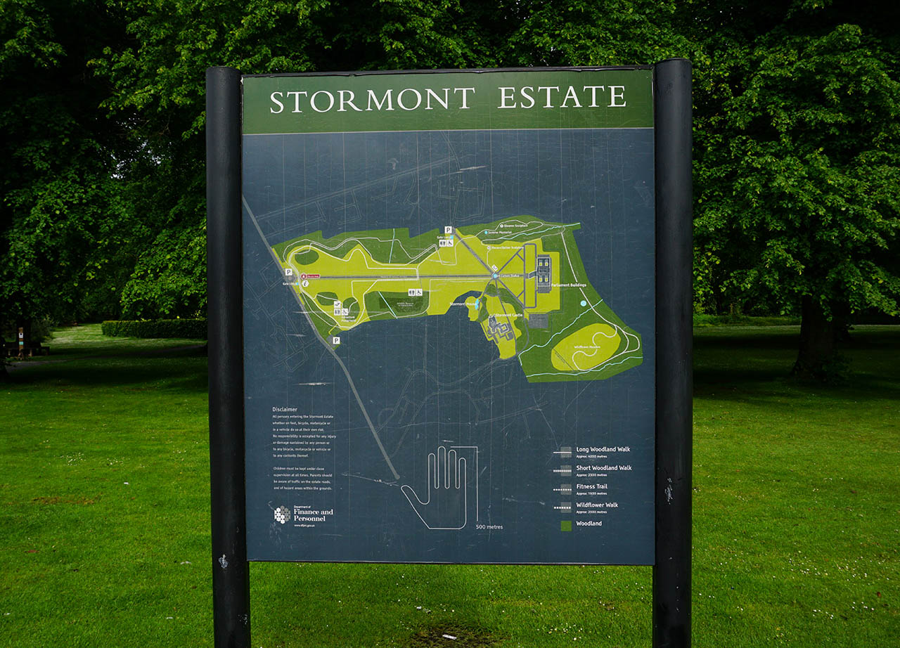 Map of Stormont Estate at Front Entrance Stormont Belfast Northern Ireland