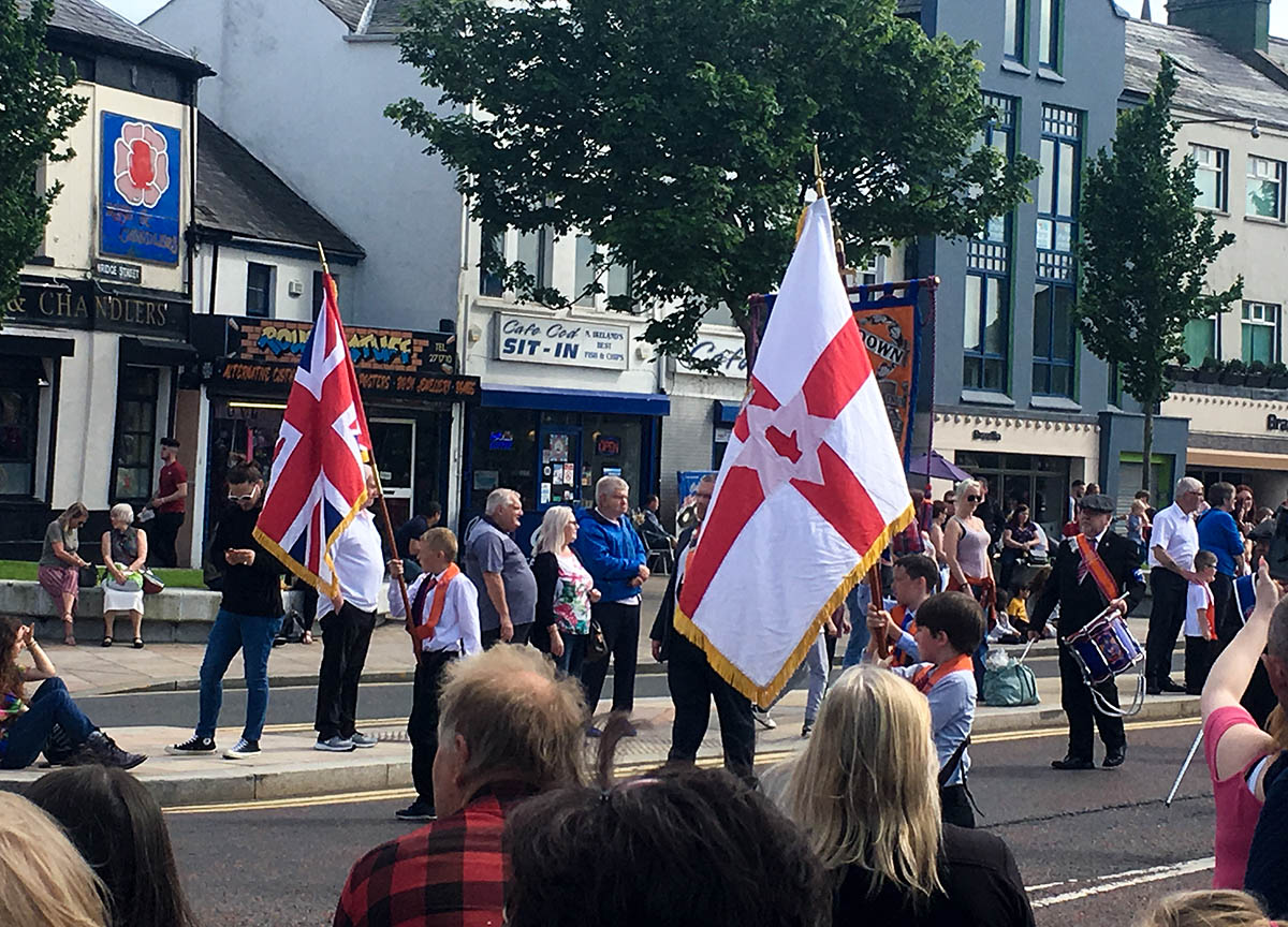 Northern Ireland Flags Loyalist Parades in Bangor Northern Ireland