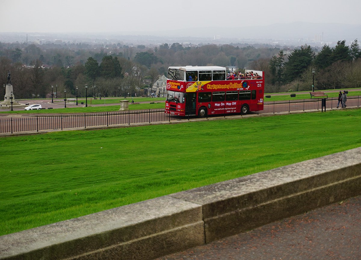 Open Top hop on hop off Bus Tour at Stormont Estate Belfast