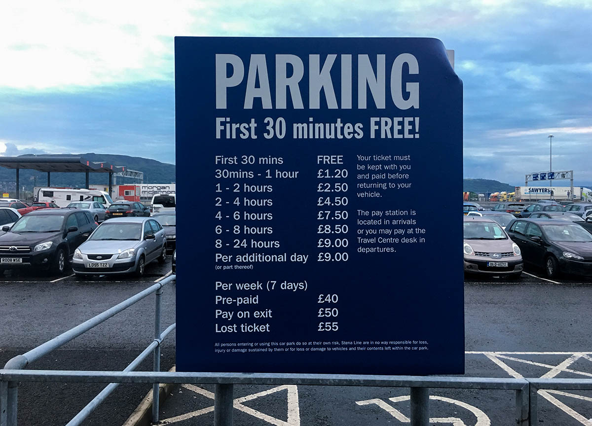Parking Prices at Stena Line Terminal 4 Belfast to Cairnryan