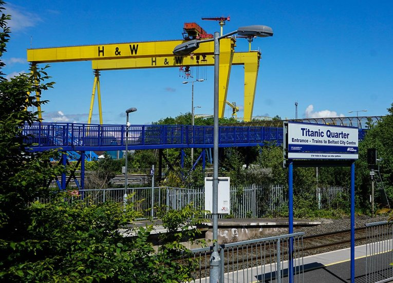 Titanic Quarter Train Station East Belfast Northern Ireland