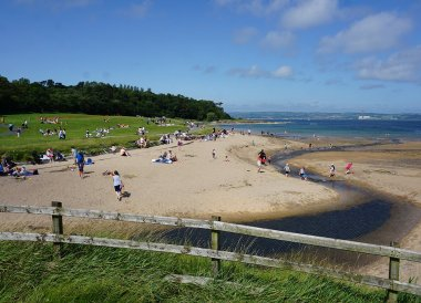 Day Out at Crawfordsburn Beach Summer in Bangor Northern Ireland