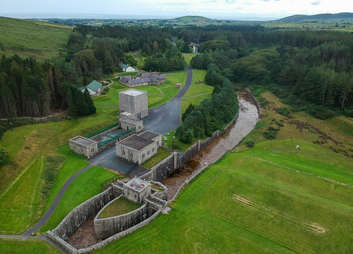 Drone Images of Entrance to Silent Valley in Mournes