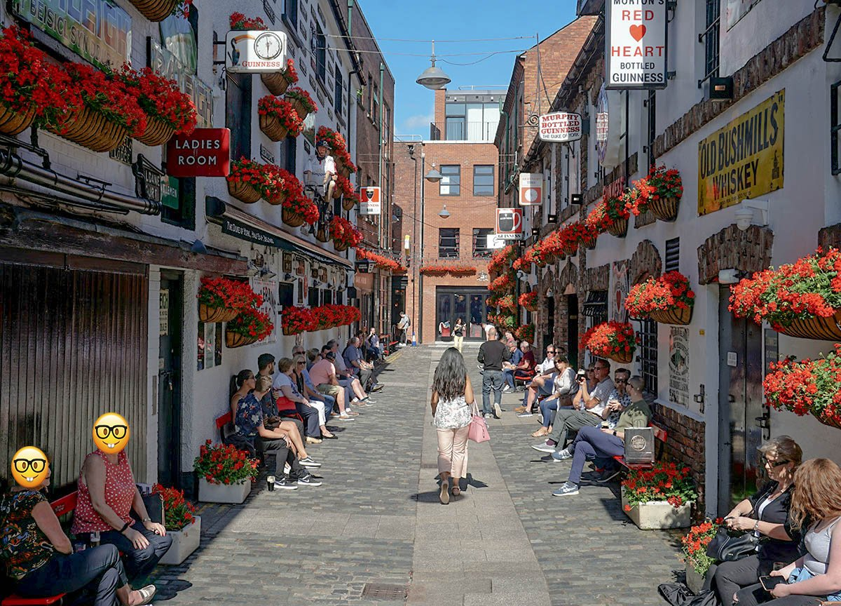 Duke of York Cathedral Quarter in Summer Belfast NI