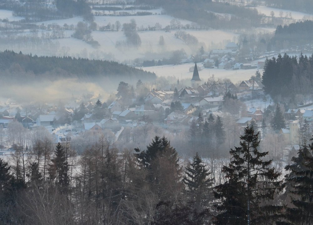 Stachy Town, Winter Road Trip in East Central Europe