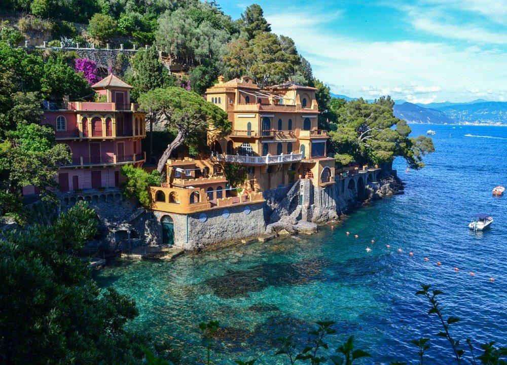 Portofino on the Italian Riviera in Italy. Road Trip