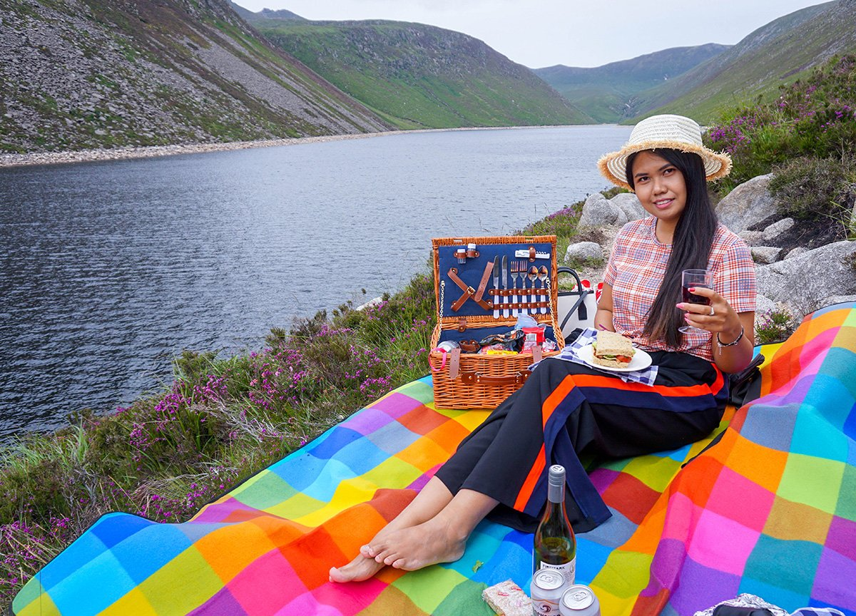 Picnics on Silent Valley to Ben Crom Reservoir Trail in Mournes