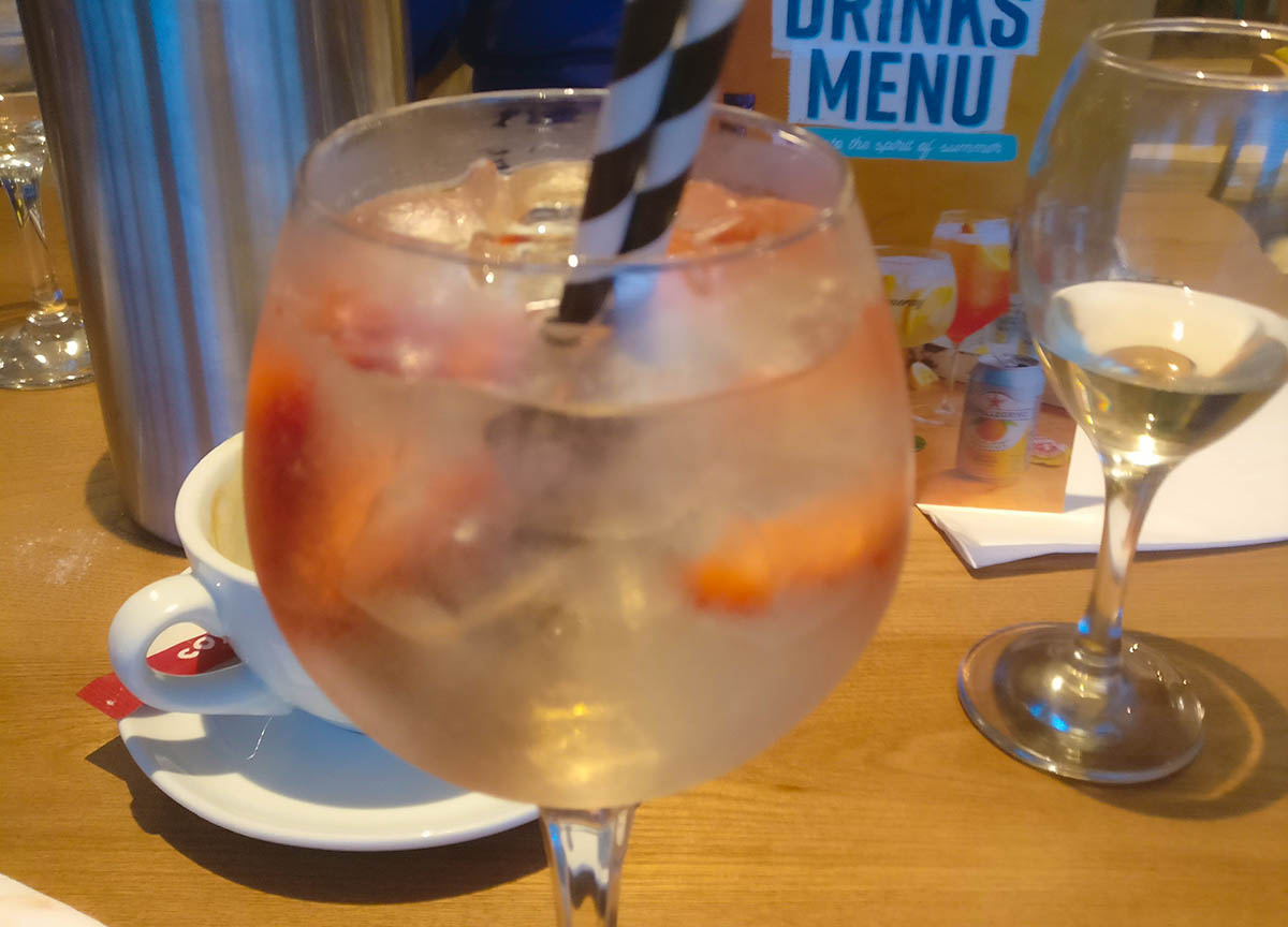 Pink Gin Cocktail at Premier Inn Bangor