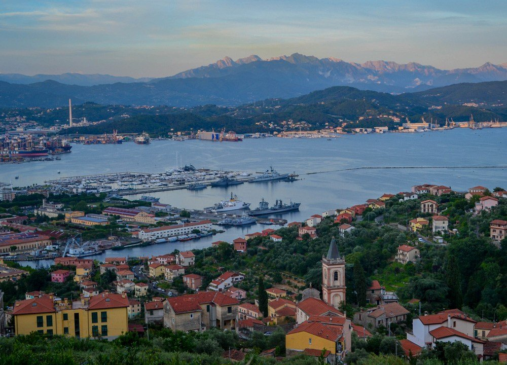 La Spezia Viewpoint from above during Summer Road Trip in Northern Italy