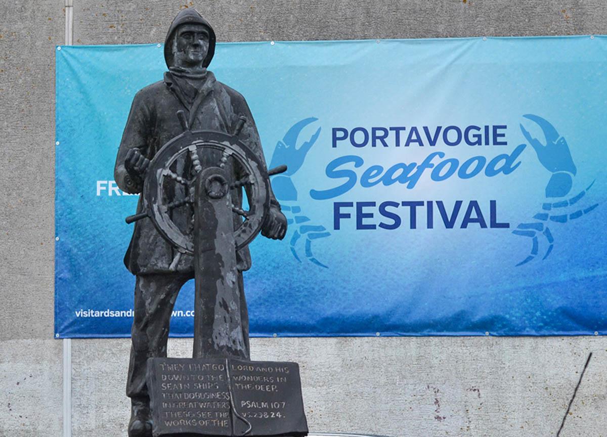 Annual Portavogie Seafood Festival in Summer in Northern Ireland Coastal Village