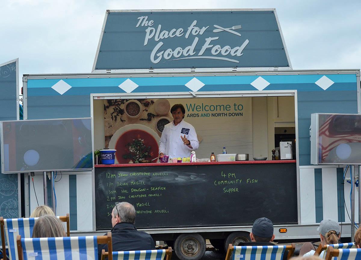 Celebrity Chef Jean-Christophe Novelli Cooking Demos at Portavogie Seafood Festival