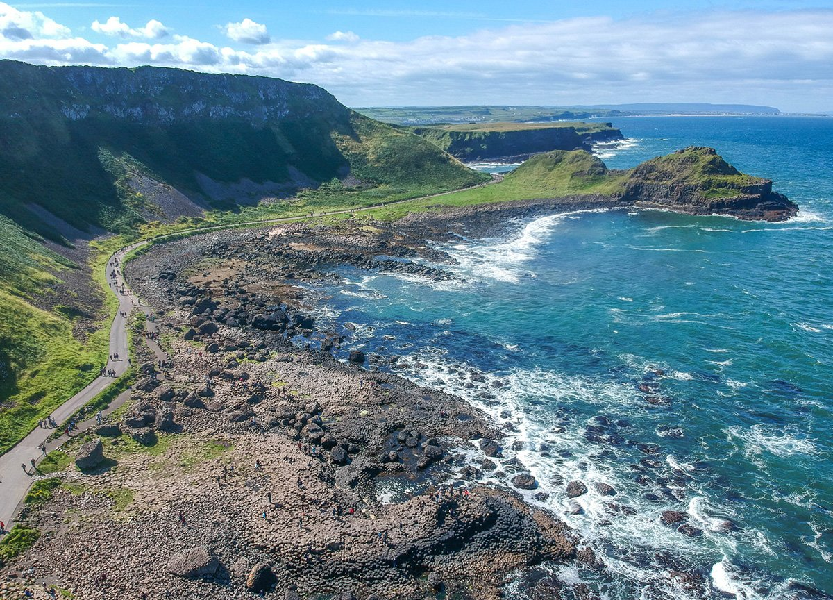 Drone Footage at Giants Causeway Northern Ireland