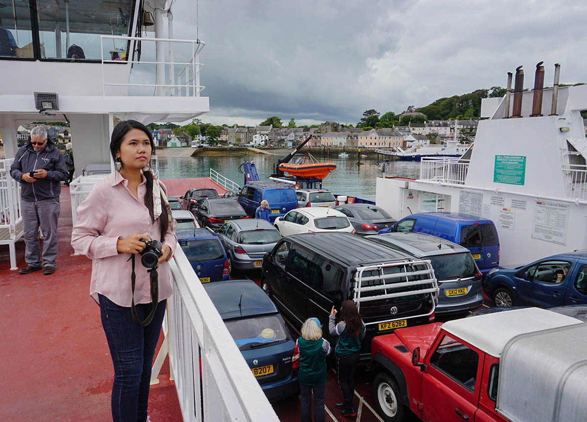 Foot Passengers on the Strangford Ferry from Portaferry