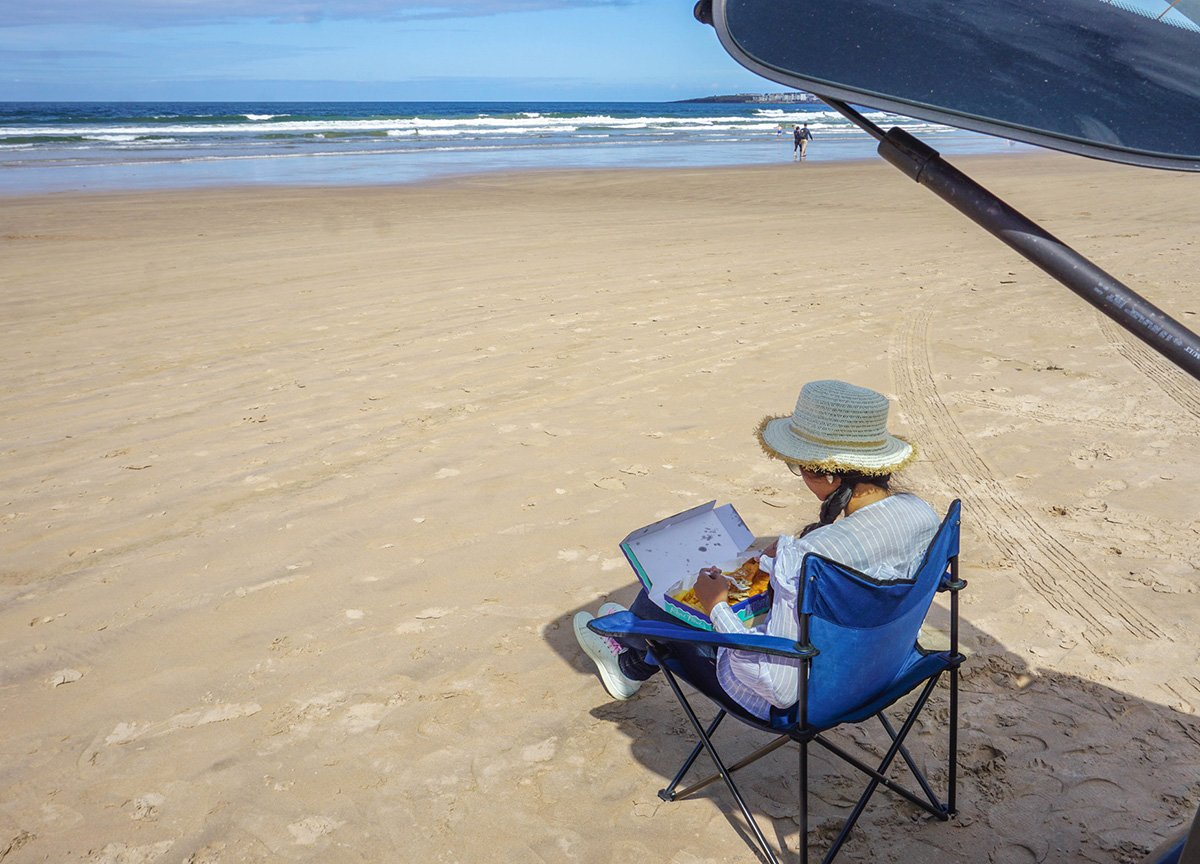 Picnic on Drive on Beach at Portstewart Strand in Northern Ireland