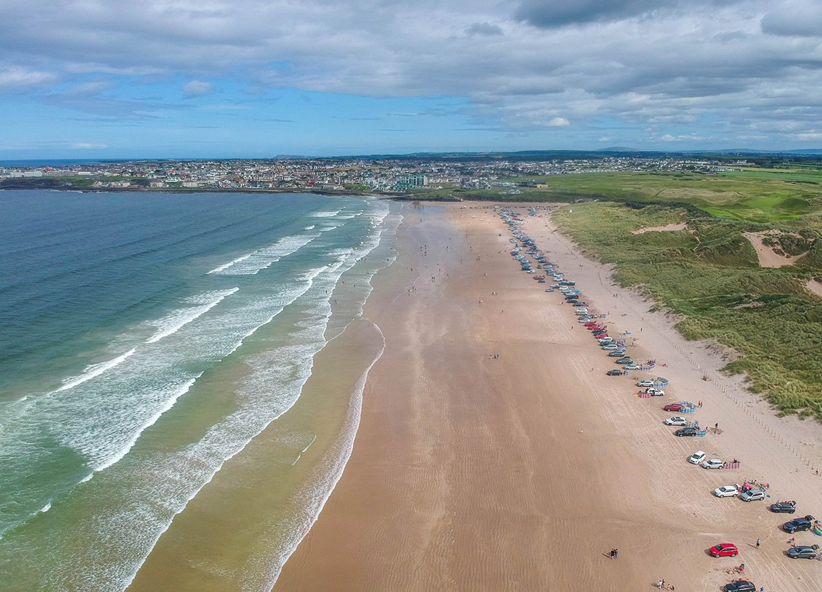 Portstewart Strand Drone Footage in Northern Ireland