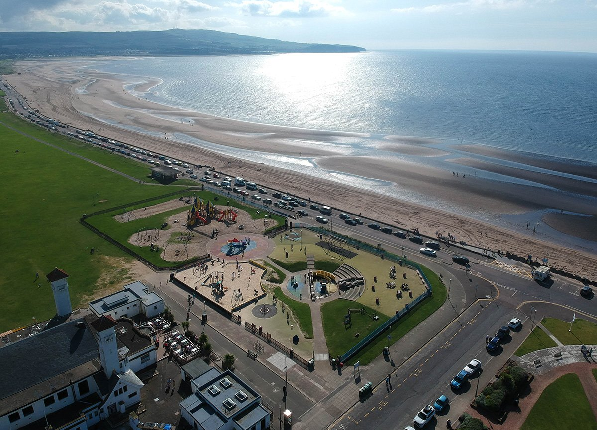 Ayr-Beach-and-Seafront-in-Ayrshire-Places to Visit in Scotland