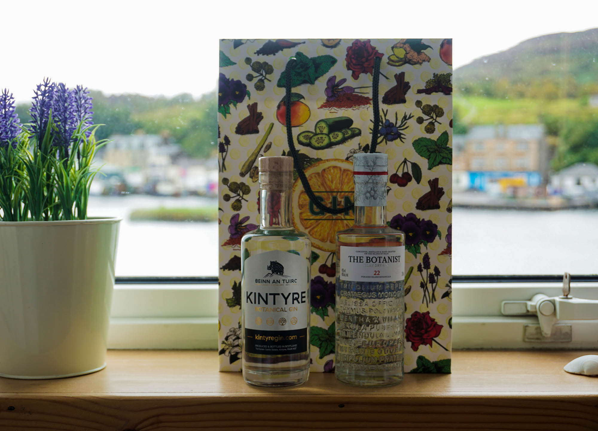 Local Craft Gins in Scotland Kyntire and Botanist Gin