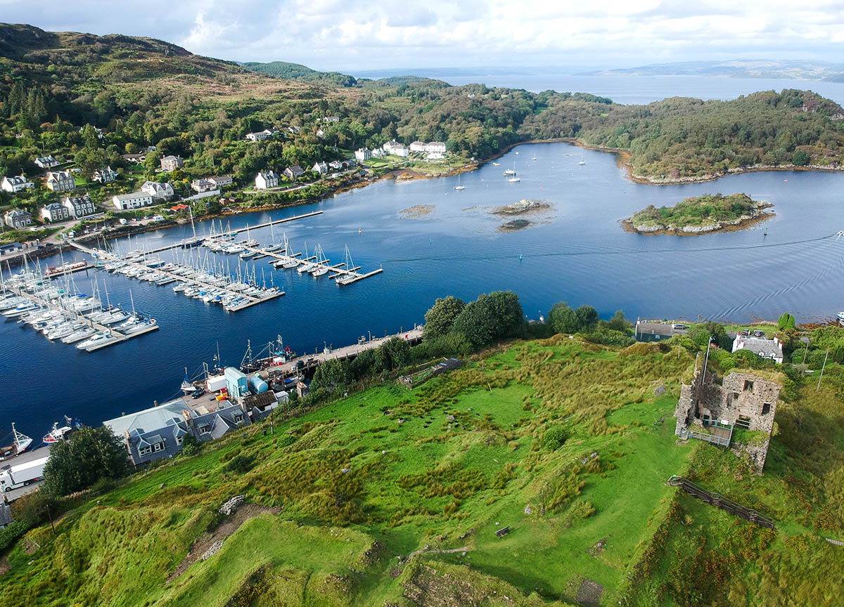 Tarbert-Castle-from-Above-on-Scotland-Road-Trip