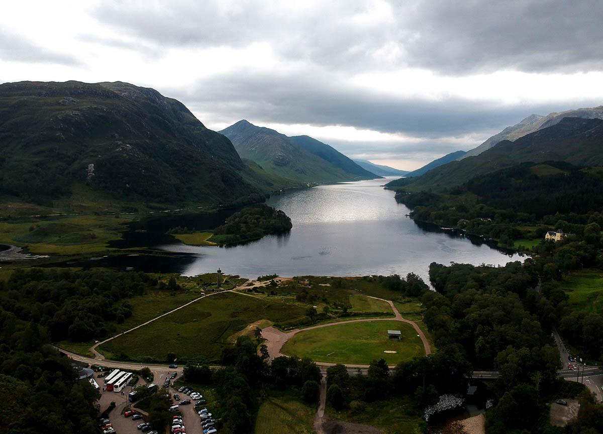 Views-over-Loch-Shiel-at-Glenfinnan-Viaduct-on-Road-Trip-in-Scotland