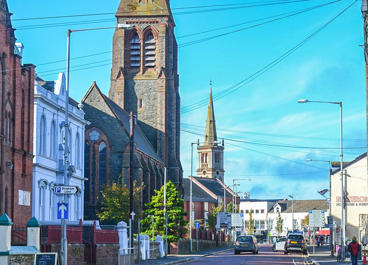 Central Churches in Bangor Town Centre Northern Ireland