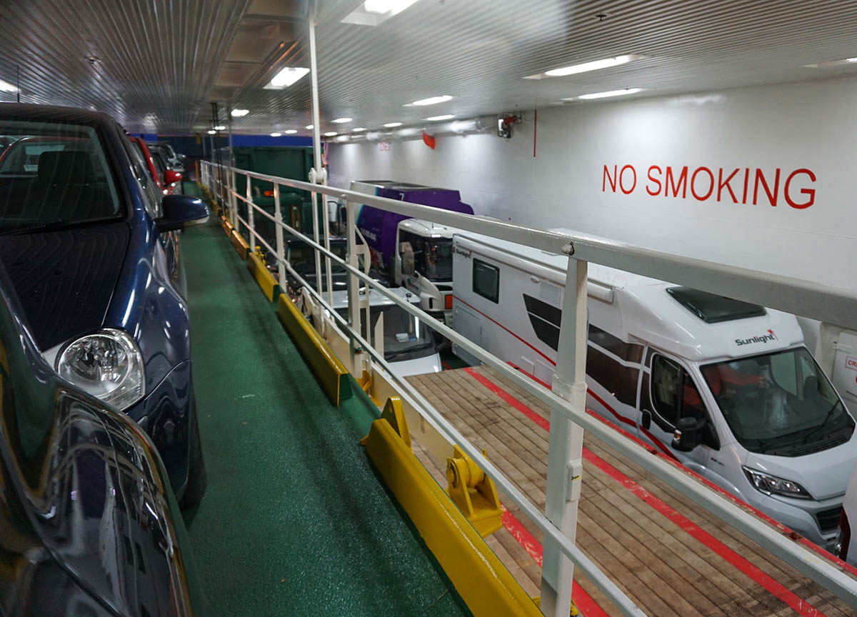 Inside Car Ferry Boarding for Carmac Islay Ferry from Kennacraig Kintyre