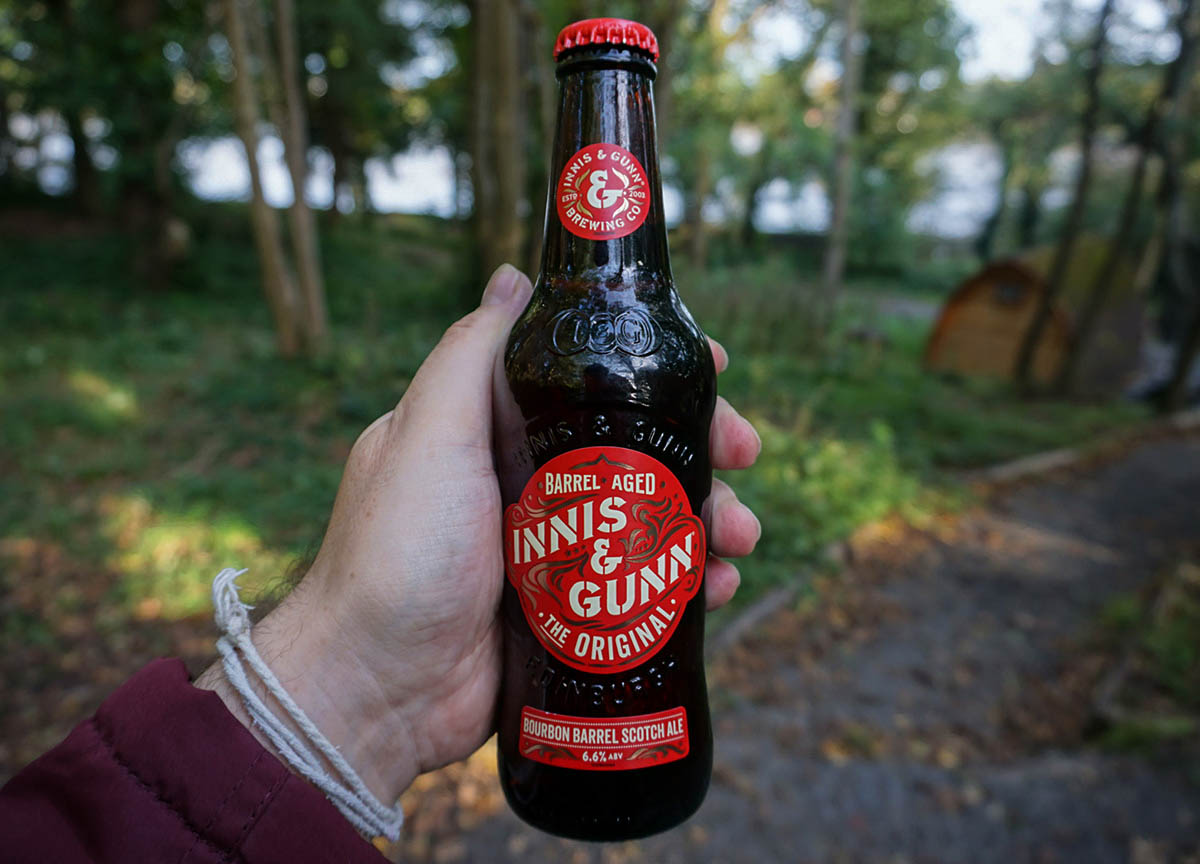 Innis and Gunn Scottish Craft Beer Brewed in Bourbon Casks in Scotland