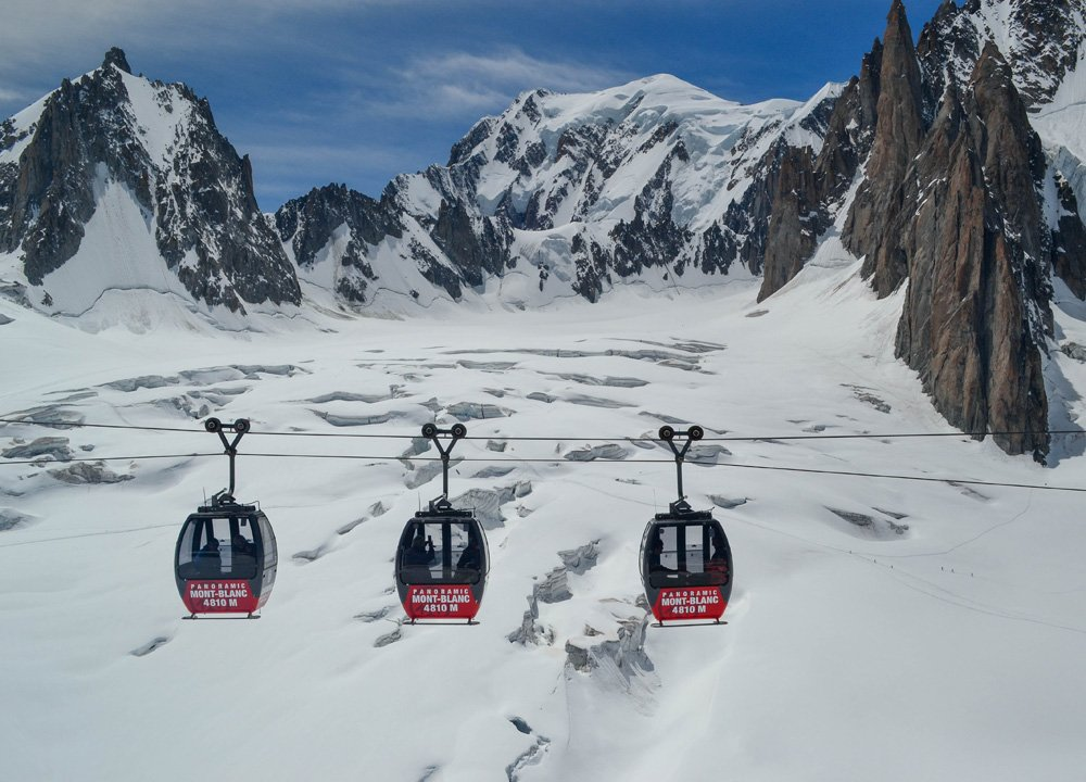 Chamonix Cablecars, Road Trip in Southern France and Borders June