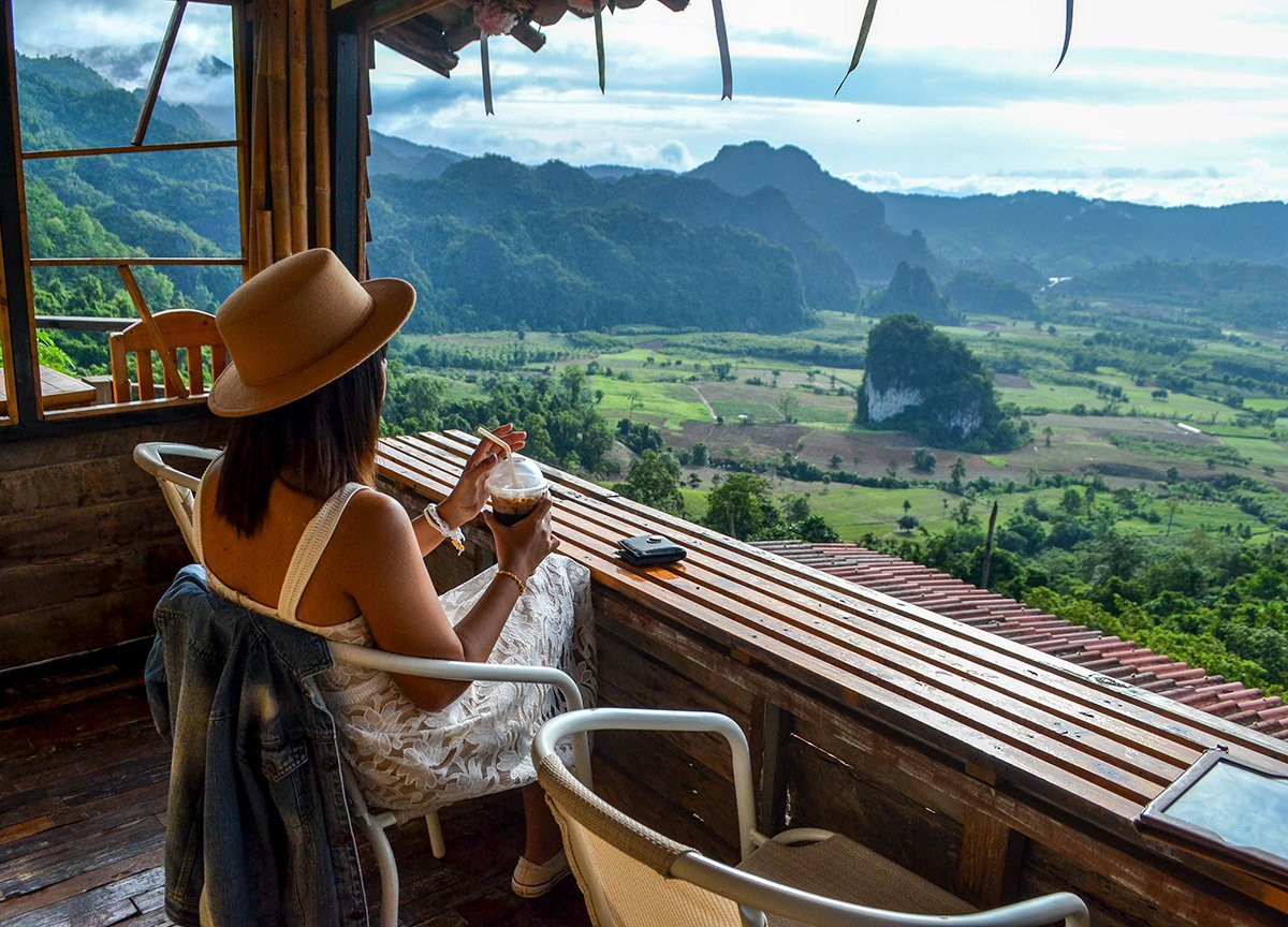Fanfan Wilson at Phu Lang Ka Phayao in Northern Thailand Chiang Mai