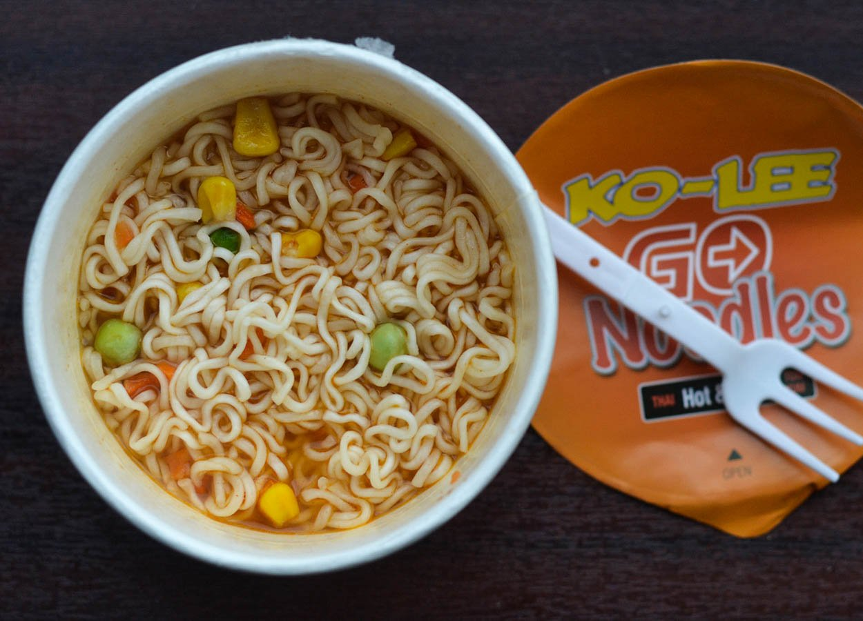 Hot Spicy Ko-Lee Go Best Instant Ramen Noodles Pots in UK