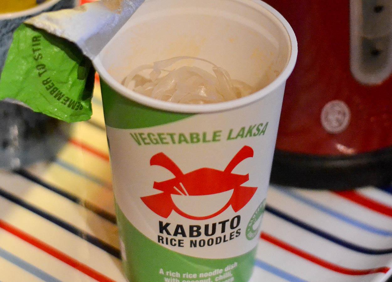 Kabuto Noodles Vegetable Laksa Rice Noodles Best Instant Ramen Pots in Britain