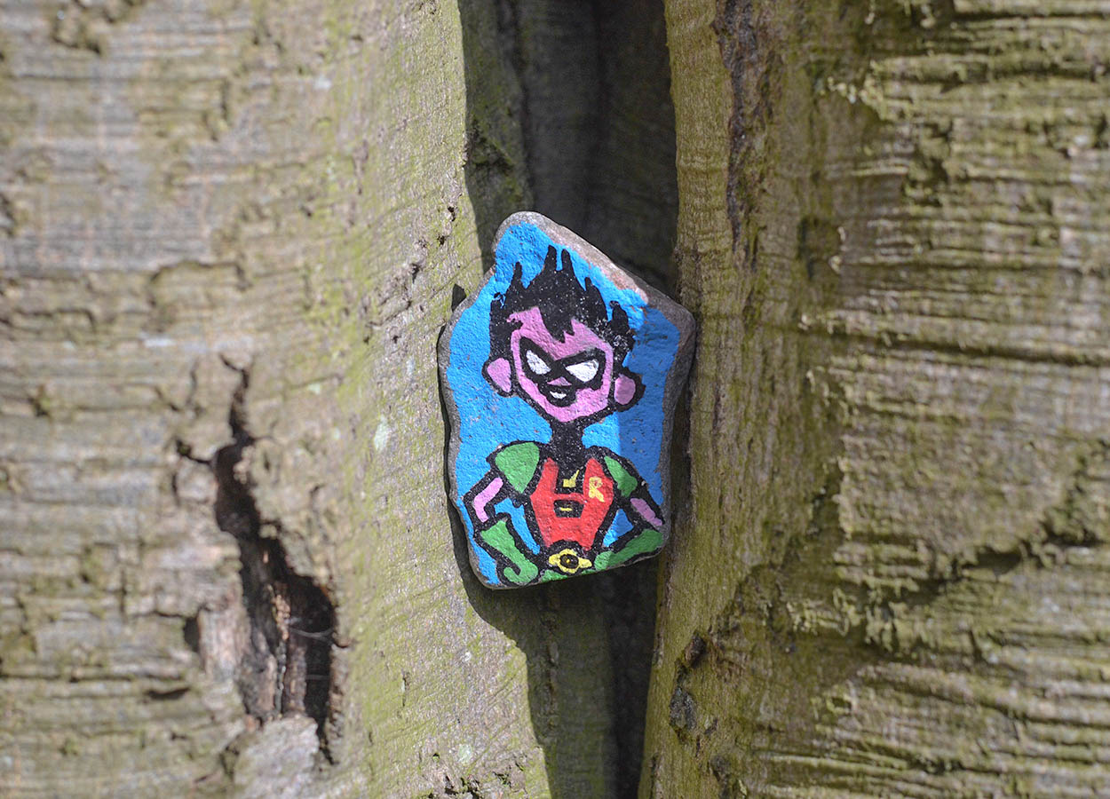 Painted Stones, rocking Kerr Woods in Bangor West Carnalea NI