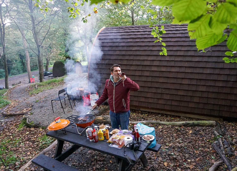 Allan Wilson Barbecues Glamping at Castle Ward Caravan Park Strangford NI