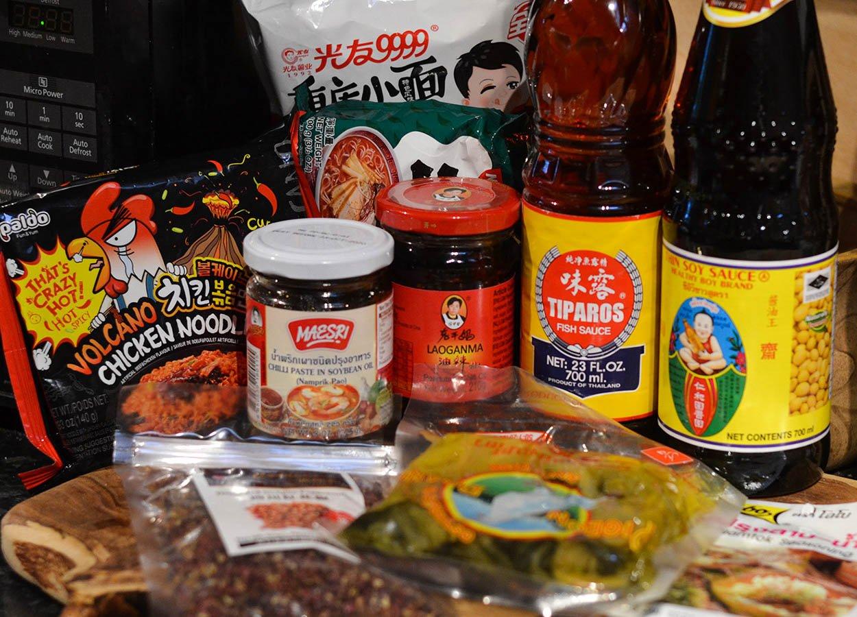 Shopping at World Foods Asia Supermarket in Bangor Northern Ireland (1)