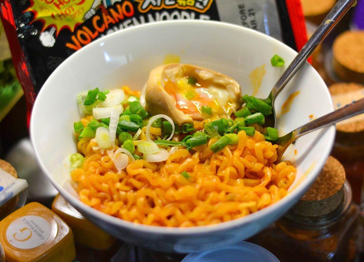 Pablo Korean Volcano Noodles Instant Ramen Noodles Hot Spiciest Instant Noodles Asian Supermarket