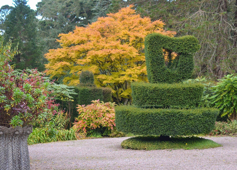 Harp Garden in Autumn at Mount Stewart National Trust NI