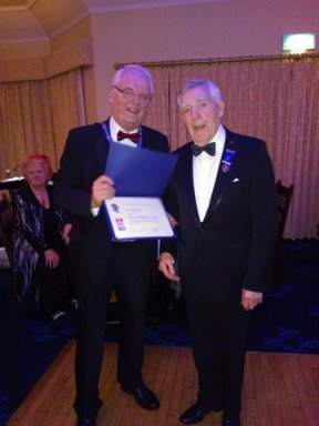 Rotary Paul Lewis awarded to PP Stewart Borland Dec 2013