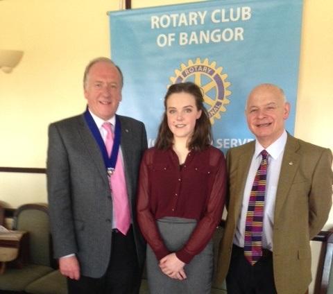 Young Leader Samantha Dornan with President Elect Gavin Walker and Hon Secretary Stephen Connolly