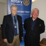 Lights, sound…action from David Lyle OBE at Bangor Rotary